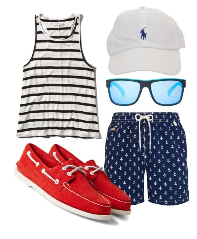 Men's Beach Outfit #2 by heybigtrender on Polyvore featuring Sperry Top-Sider, Polo Ralph Lauren and Abercrombie & Fitch