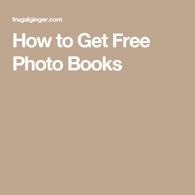 How to Get Free Photo Books