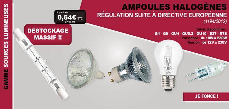 #lampe #lampes #ampoule #ampoules #halogène #stock #déstockage #régulation #loi #europe #norme #G4 #E27 #GU4 #GU5.3 #GU10 #E27 #R7S #directive #éclairage #éclairer #lumière #luminosité #fournitures #matériel #habitat #bâtiment #travaux #bricolage #bricoler
