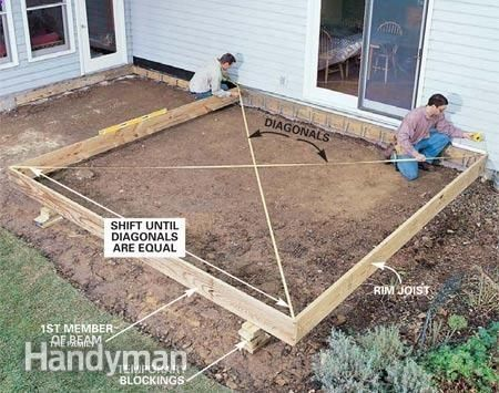 building a deck step by step   How to Build a Wood and Stone Deck: The Family Handyman