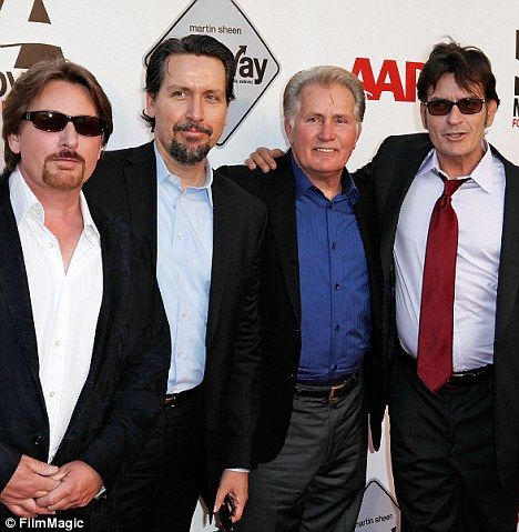 martin sheen # emilio estevez # charlie sheen