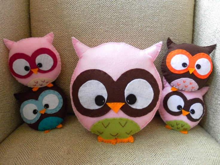 Large Baby Pink Owl Plush Toy/Pillow  HollyGoBrightly