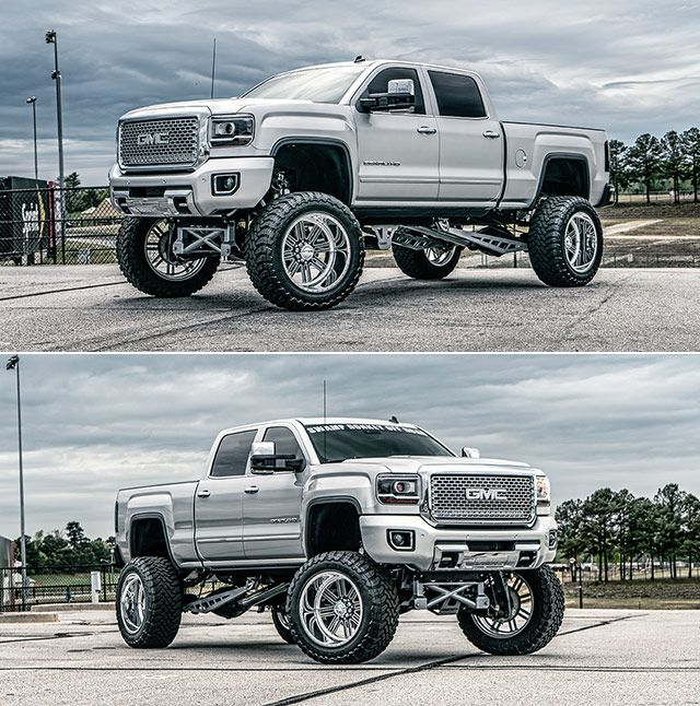 Gmc Sierra 2500 Hd Lifted And Pimped Out With New Shoes What A Freaking Beast Throttlextreme Com Diesel