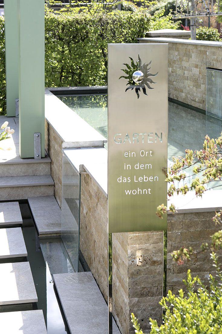 Edelstahl Gartenstecker