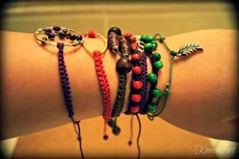 bracelets made by Keenia Art: Keenia Art