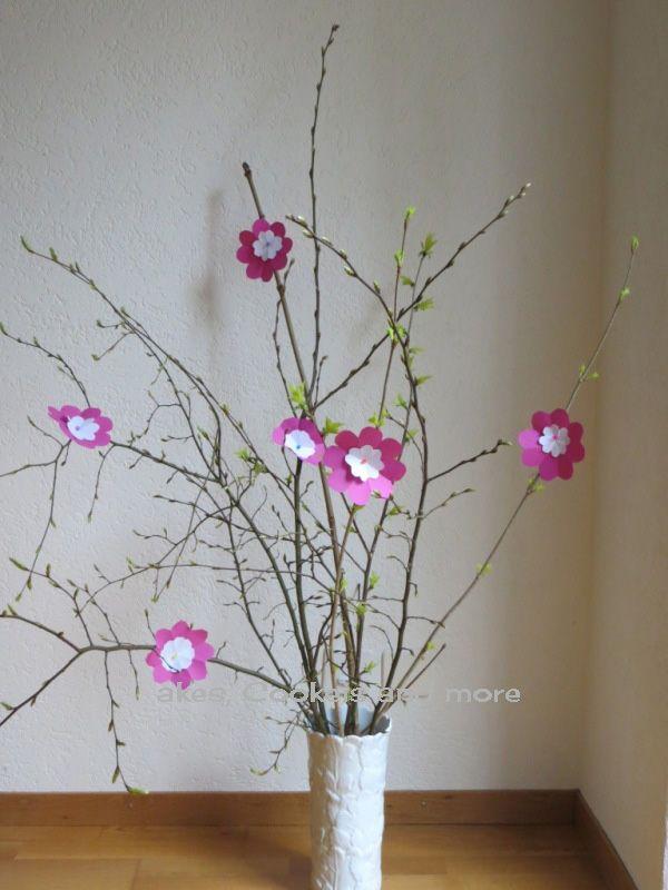 Anleitung für Frühlingsbaum mit  Blüten aus Papier