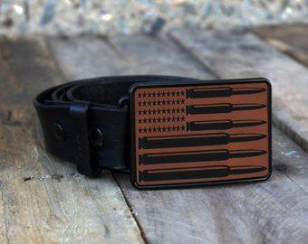 Custom Belt Buckle, Engraved Belt Buckle, Monogram Belt Buckle, Personalized Belt Buckle, Metal Belt Buckle, --BBRECT-RH-BULLETS
