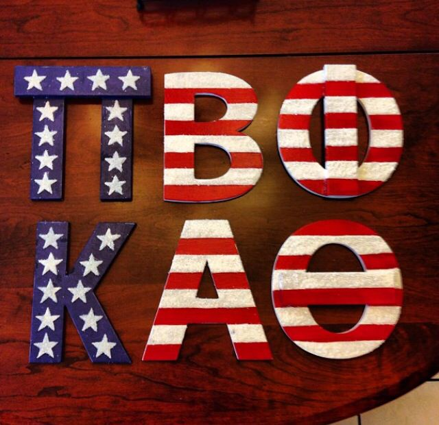 sorority american flag letters kappa alpha theta pi beta phi