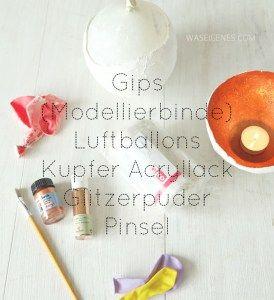 DIY Gips Kupfer Schale fuer Teelichter | waseigenes.com