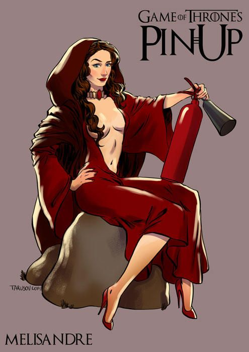 As garotas de Game of Thrones ao estilo pin-up