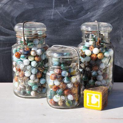 Jars with marbles via Bambino Goodies Blog