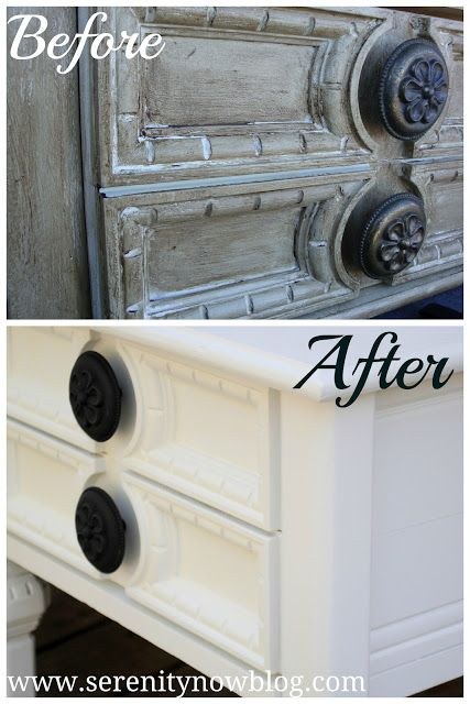 Furniture Makeover with Paint {before & after}: