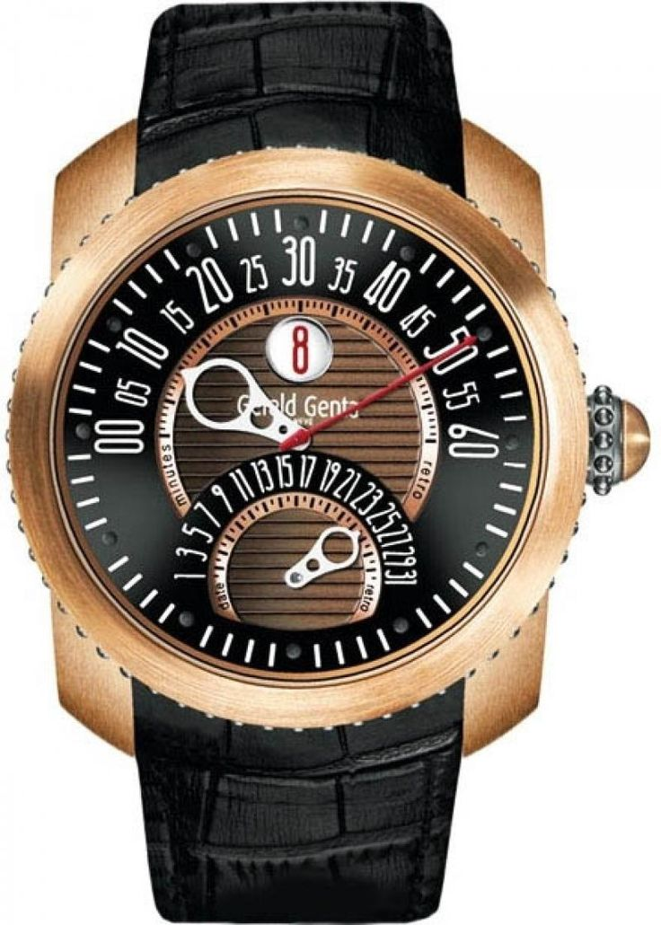 Gerald Genta GBS.Y.98.331.CN.BD Gefica Biretro - швейцарские мужские часы наручные, титановые, бронзовые, черные