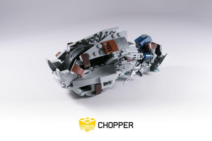 Lego Halo 3 Brute Chopper http://www.flickr.com/photos/legostarwarstv/27279849015/