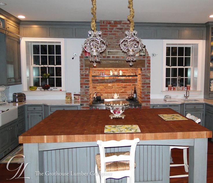 Wood Mode Kitchen With A Gorgeous Kitchen Island Http: 17 Best Images About Butcher Block Countertops On