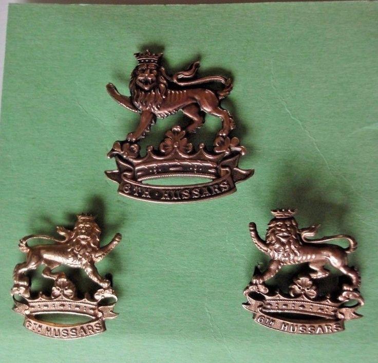6th Duke of Connaughts Royal Canadian Hussars Cap &Collar Badge Set1904 Pattern