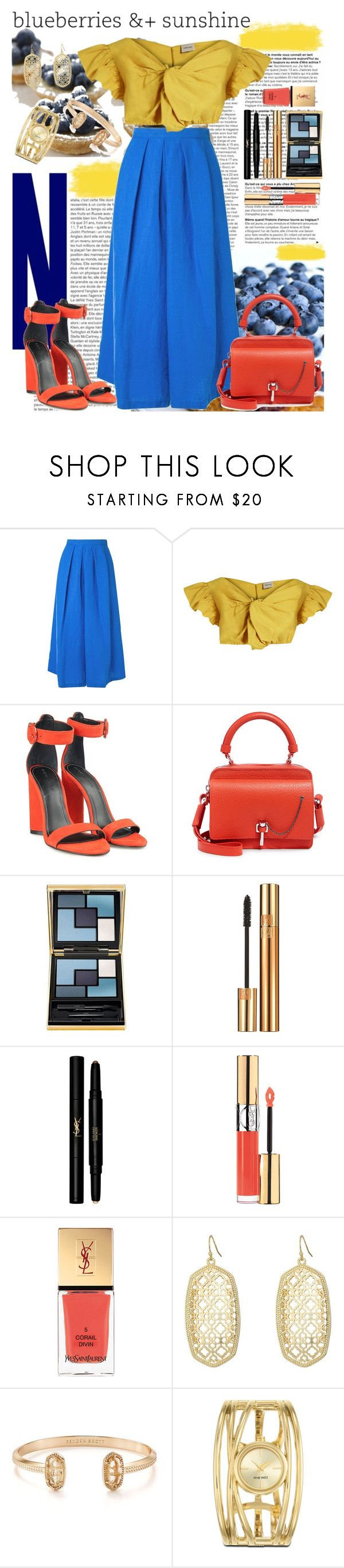 """""""2017 22 May: Berry Sunny"""" by e-trina ❤ liked on Polyvore featuring Rachel Comey, Kendall + Kylie, Carven, Yves Saint Laurent, Kendra Scott and Nine West"""
