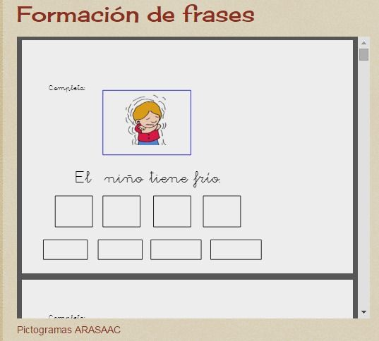 Aula Abierta T.E.A. Colegio Federico de Arce Martínez.: Formación de frases
