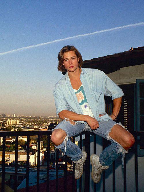 80slove:  Young Brad Pitt