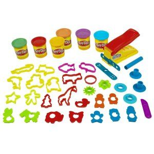 Play-Doh Fun Factory Deluxe Set Your child gets to exercise his fingers and fine motor skills. http://bit.ly/1v0Lh4Z