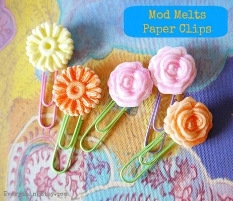 Mod Melts Craft Idea @Jane Curtis Etsy - dont have mod melts but i DO have pretty little ceramic flowers that need new homes!