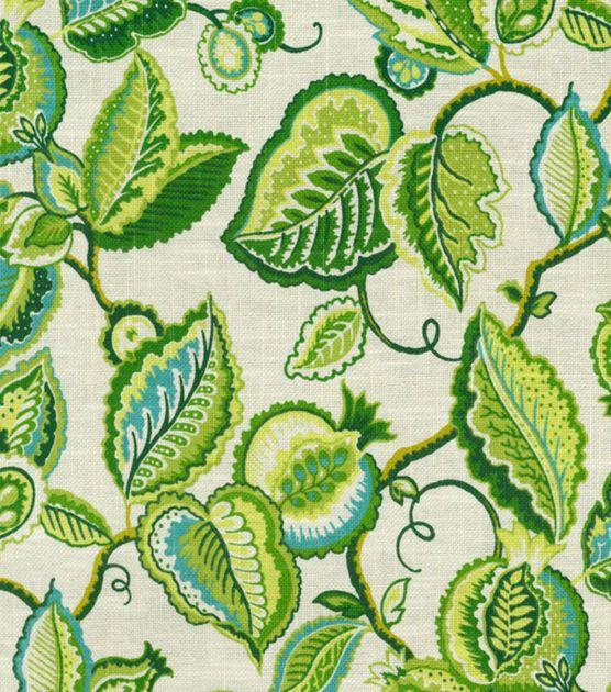 Home Decor Print Fabric-Waverly Fantasy Fleur Jade