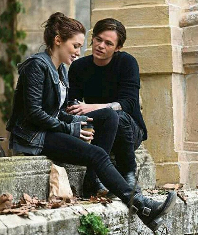 New promotional #Fallen movie photos! Addison Timlin (Luce) and Harrison Gilbertson (Cam). Via @HarrisonG_Fans