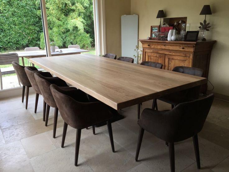 grande table industrielle de salle manger de 3 m pieds central fonte tables de salle. Black Bedroom Furniture Sets. Home Design Ideas