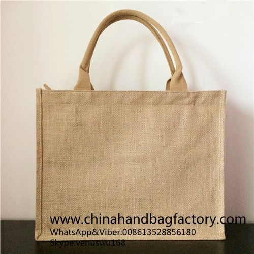 China linen handbag manufacturer Chinese jute shopping bag supplier designer OEM customized Tote bags factory