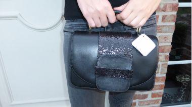Handbags :: Handtas zwart glitter - Cristofoli