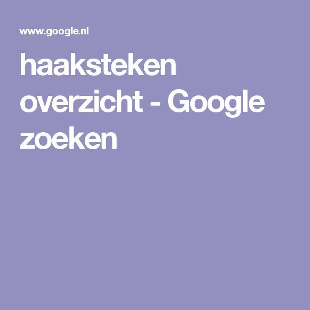 haaksteken overzicht - Google zoeken