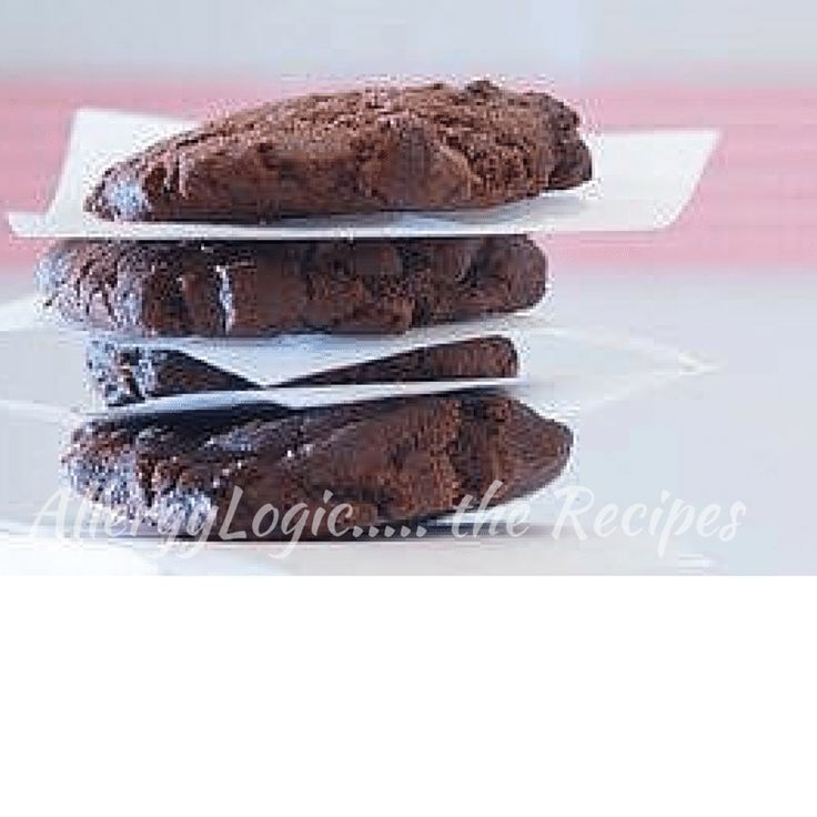 Delicious Double Chocolate Cookies - dairy, egg, peanut and nut free One of our favourite go-to easy recipes for after school treats. Find the recipe at http://allergylogic.com/double-chocolate-cookies-try-stopping-at-one/