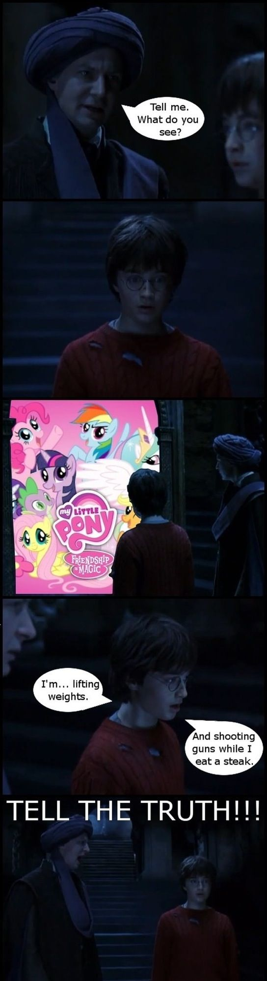 Hehe I guess this could go into mlp and Harry potter memes but I still love it!