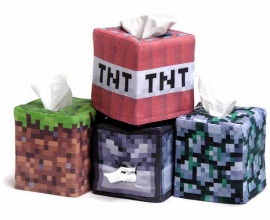 Des boites à mouchoirs Minecraft