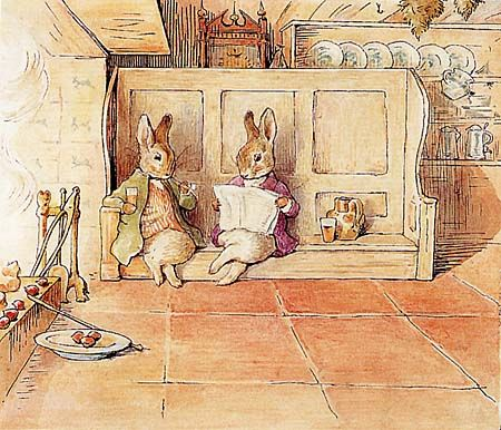 Bunnies by the fire by Beatrix Potter