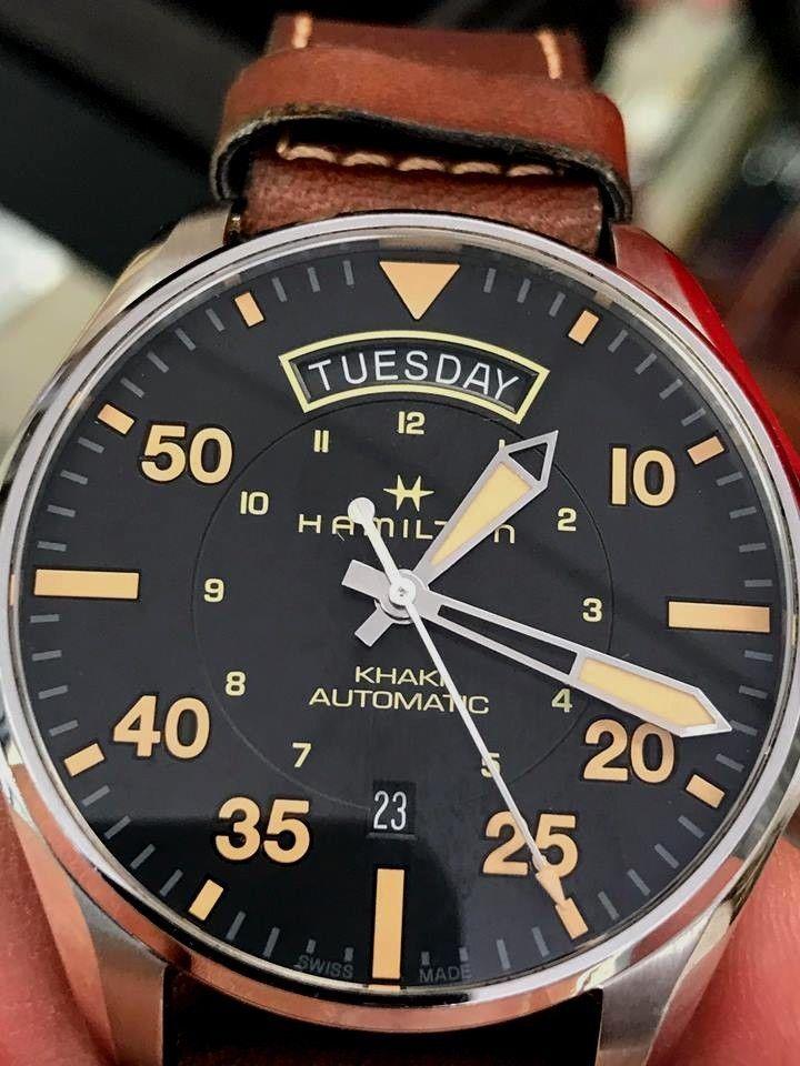 a441dfc5b HAMILTON Khaki Pilot Day Date Automatic Black Dial Men's Watch H64645531