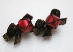 Make Fun Jingle Bell Hair Clips!