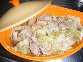 ルクエで簡単!鶏肉とキャベツの香味蒸し