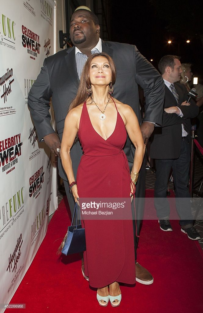 nia peeples 2014 | Actor Quinton Aaron and singer Nia Peeples attend PREFUNC At The ...