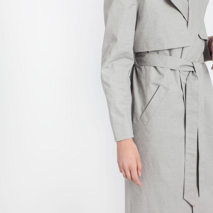 Wave Trench Grey Elementy #trench #grey #trench #coat #summer #elementy #minimal #classic #polishfashion