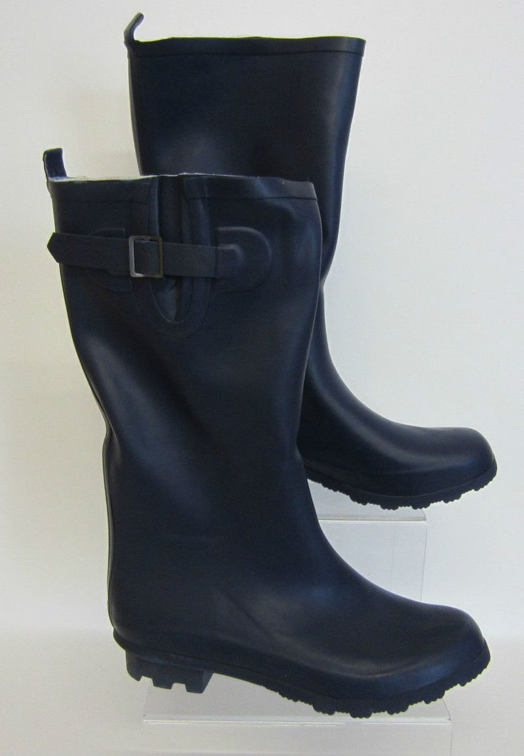 Spot On Ladies X1169 Navy Wellington Boots Buckle For Added Fit Uk 3-8 (R5A)