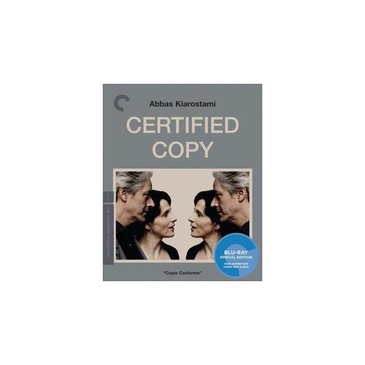 Certified copy (Blu-ray), Movies