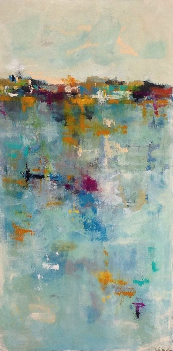 Colorful Abstract Cityscape Summer City in the by lindadonohue, $695.00