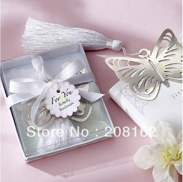 Hollow Butterfly Bookmarks Metal With Mini Greeting Cards Tassels Kawaii Stationery Pendant Gifts Wedding Favors $9.18