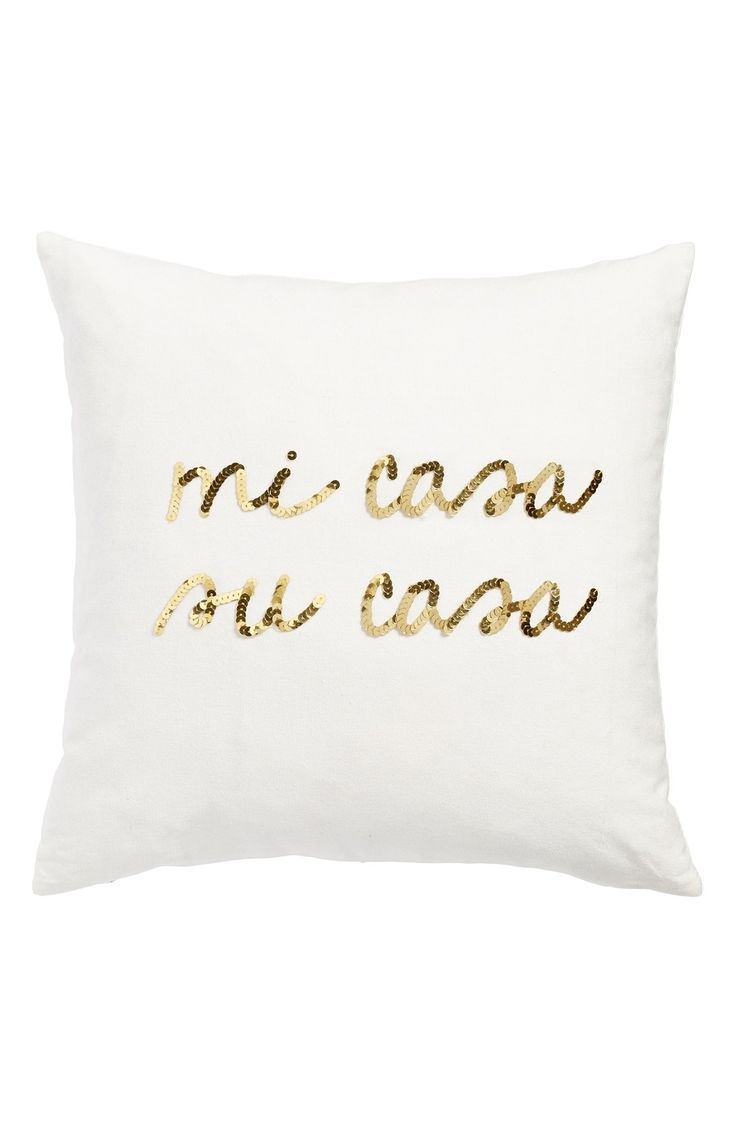 Bow & Drape 'Mi Casa, Su Casa' Pillow