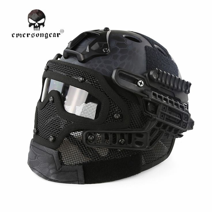 Emerson G4 System/Set PJ Helmet with Protection Glass Hunting Face Mask Paintball Accessories Tactical Airsoft Helmets+Goggles
