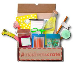 Celebrate Crate Party Subscription BoxCrates Parties, Offering Gift, Month Subscription, Parties Plans, Month Parties, Gift Ideas, Fun Stuff, Celebrities Crates, Crafty Fun