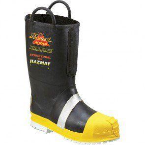 807-6003 Thorogood Men's HELLFIRE Rubber Boots - Black www.bootbay.com