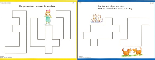 Here's a terrific resource containing a teacher's guide, lesson ideas, student reproducibles, and pentomino mats!