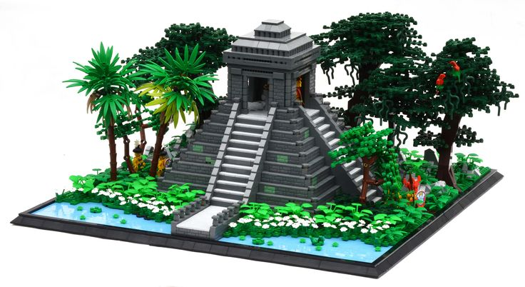 """A Mesopotamian-style temple, based on """"El Castillo"""" in Chichen Itza, Mexico. Unfortunately, not done in time for the CCC but here it is nonetheless. Kinda looks like a render in this shot, but it's definitely real. Thanks for looking!"""